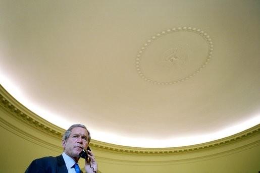 President Bush Oval Office Ceiling