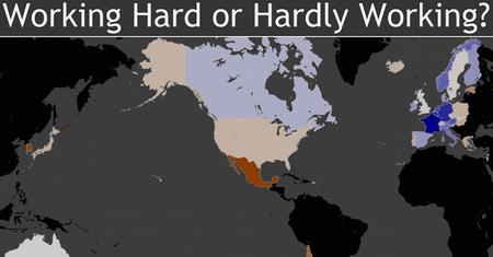 ¿Cuáles son los países que más y menos trabajan de la OCDE?