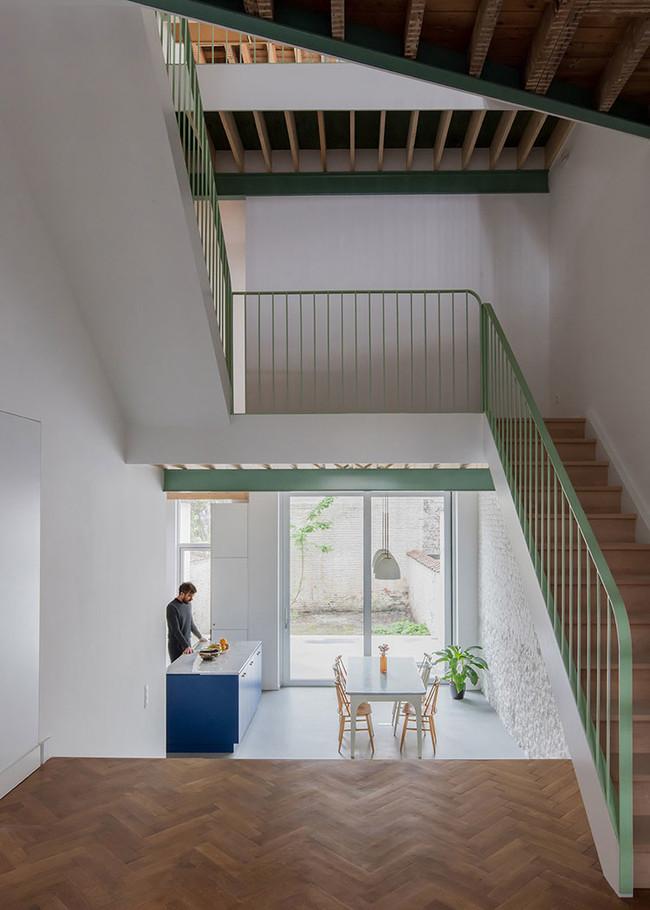 Mamout Auxau Renovation Apartment Brussels Townhouse Belgium 3