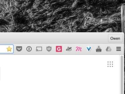 Chrome deja de permitir los botones de sus extensiones en la barra de direcciones