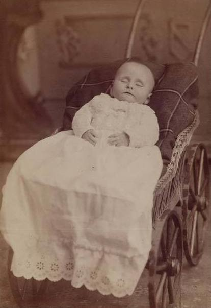 Post Mortem Image Baby Cabinet Card C 1885 Courtesy Fawn Weir
