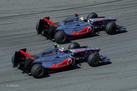 Los McLaren de Button y Hamilton en el GP Turquía 2011