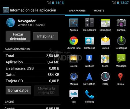 Ocultar aplicaciones en Android 4.0 (Ice Cream Sandwich)