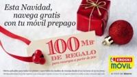 Comienzan las promociones navideñas: 100 Mb de regalo al recargar 20 euros con Eroski Móvil