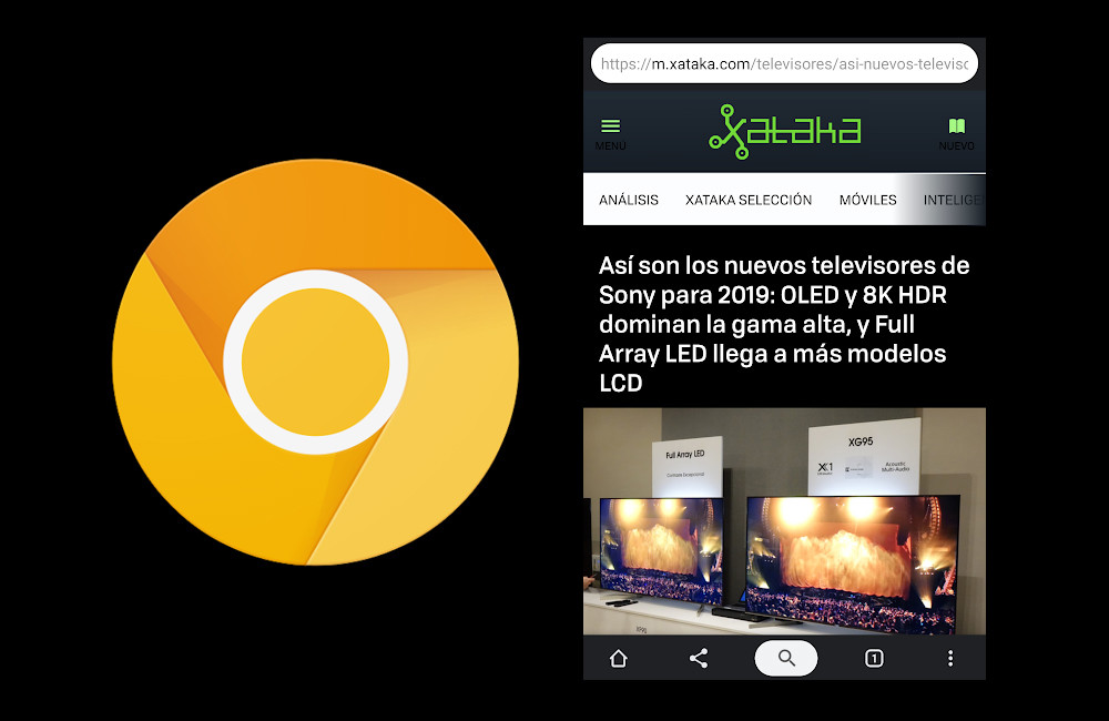 Chrome Canary for Android wear black, its interface, and web pages: so you can test your dark theme
