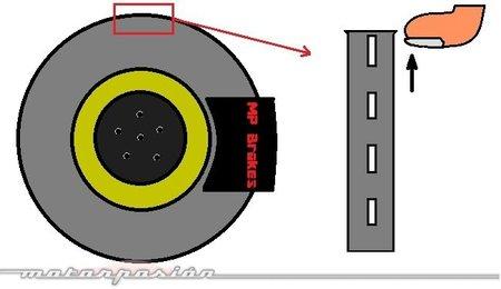 Comprobación escalón disco de freno