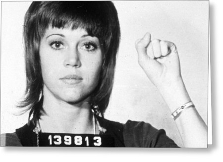 Jane Fonda Mug Shot Vertical Tony Rubino