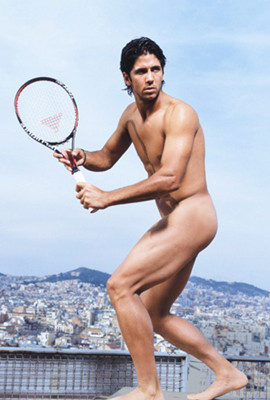 Fernando Verdasco se desnuda por una buena causa