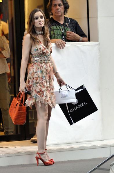 Más looks de Blake Lively y Leighton Meester en el rodaje de Gossip Girl