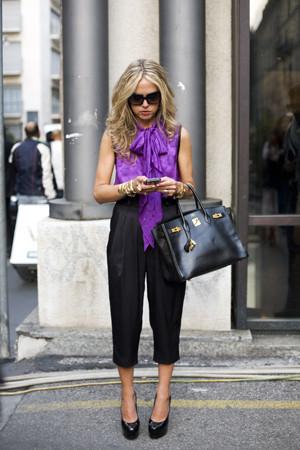 Rachel Zoe en la Semana de la Moda de Milán