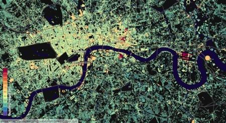 La altura de todos los edificios de Reino Unido, a vista de este espectacular mapa