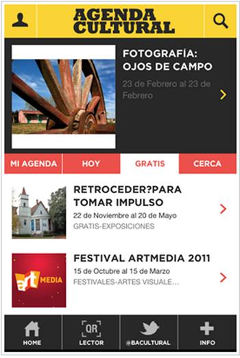 Aplicación móvil para la agendua cultural de Buenos Aires