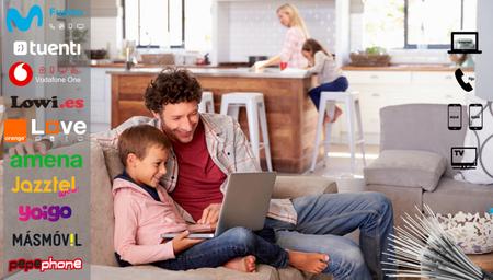 Los mejores precios en combinados familiares con fibra y dos líneas móviles o más