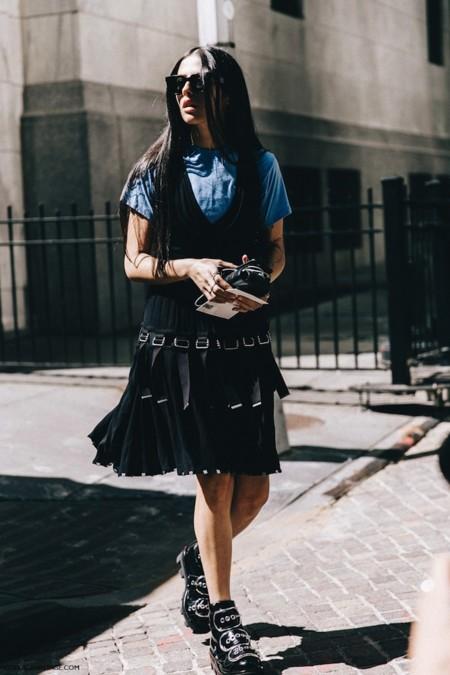 New York Fashion Week Spring Summer 2016 Street Style Jessica Minkoff Diesel Black And Gold Gilda Ambrossio Alexander Wang Boots 1 790x1185