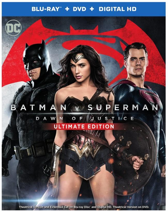 Portada del Blu-ray de Batman V Superman con el montaje extendido