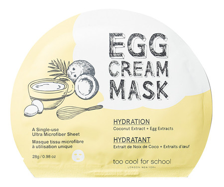 Egg Cream Mask De Too Cool For School