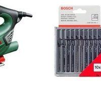 El set de sierra de calar Bosch PST 900 PEL con maletín y pack de 10 sierras Bosch cuesta 66,90 euros en Amazon