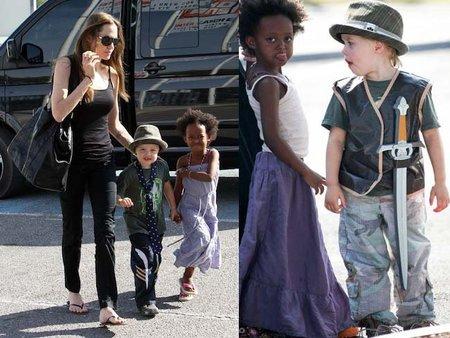 Shiloh, la hija de Angelina Jolie, prefiere los pantalones a las faldas