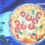 Tarta salada de tomate cherry y tres quesos. Receta