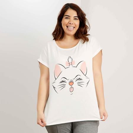 Kiabi Camiseta Blanca Gata Aristogatos Pvp 12eur