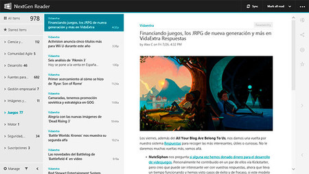 NextGen Reader en Windows 8