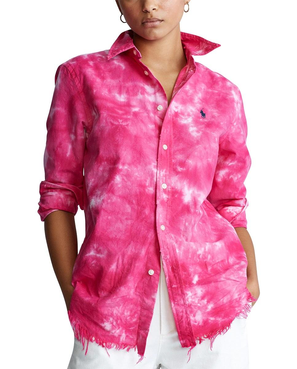 Camisa tie-dye con bajos deshilachados de Ralph Lauren