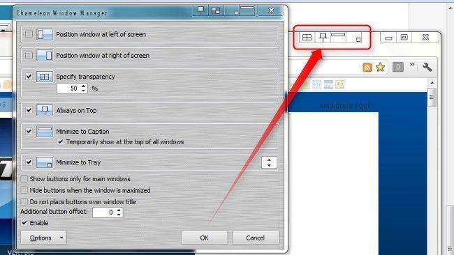 Añade funciones a la barra de titulo en Windows