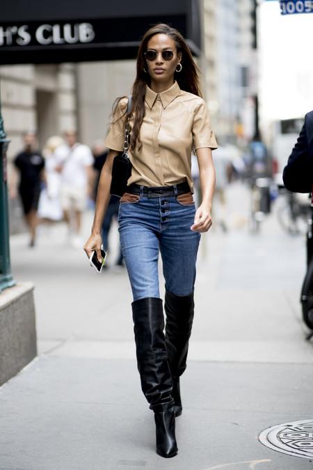 street style nyfw botas altas