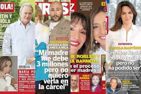 Kiko Rivera le reclama 3 millones a Isabel Pantoja, Sandra y Nagore tendrán un bebé y Fabiola raja de Bertín Osborne: estas son las portadas del miércoles 20 de enero