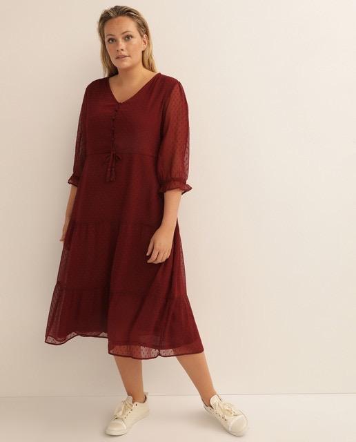 Vestido plumeti de estilo romántico