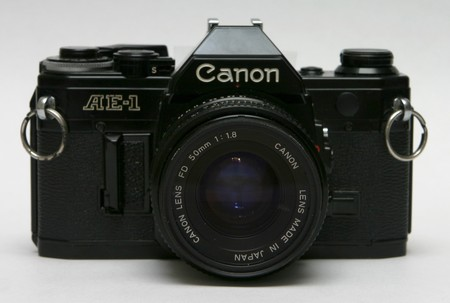Canon Ae 1 Front With 50mm Lens