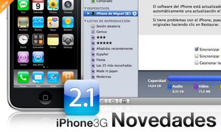 Listado completo de novedades no documentadas del iPhone 2.1