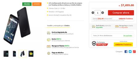 Xiaomi Mi A2 Mexico Elektra Precio