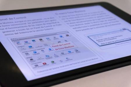 Time Machine iBook contenido