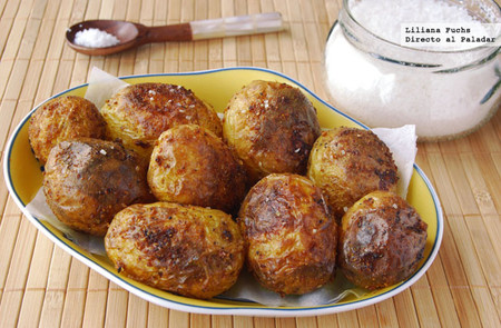 Patatas asadas al curry. Receta de guarnición
