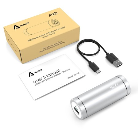 Power Bank Aukey PB-N37 de 5.000 mAh por sólo 4,99 euros en Amazon con este cupón