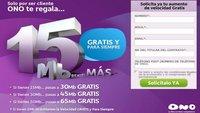Ono aumenta gratis la velocidad a sus clientes entre 6 y 15 Mbps