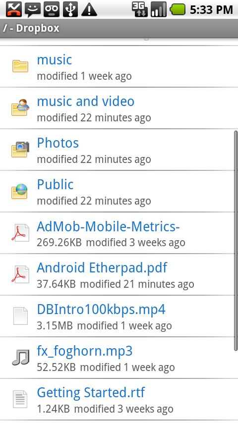 Foto de Dropbox en Android (1/6)