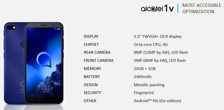 Alcatel 1v Filtracion