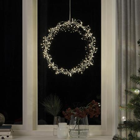 Corona de navidad de luz Ikea