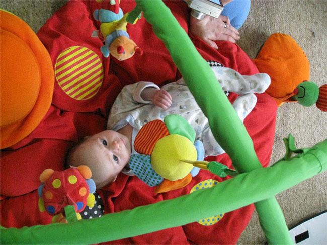 Bebés de seis meses y gimnasios