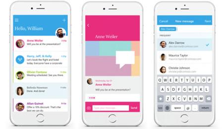 Microsoft fusiona el correo y la mensajería instantánea con su app Send para iOS