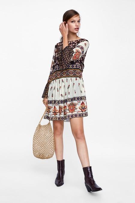 Vestidos Patchwork Zara