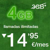 Amena sustituye su tarifa de 14,95 euros al mes por una nueva con llamadas ilimitadas y 3GB de datos al mismo precio