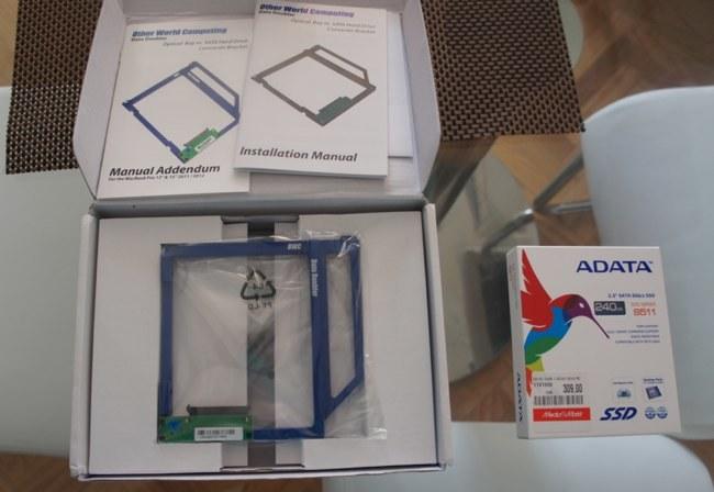 ADATA SSD S511 de 240 GB y Data doubler de OWC