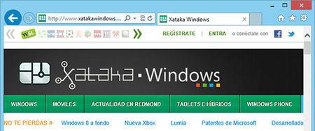 Internet Explorer 10, controles básicos de la interfaz clásica