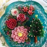 Estas esculturas florales están hechas con gelatina 3D y son los postres más increíbles que hemos visto en Instagram