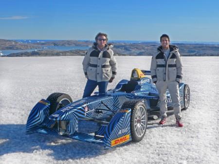 Un Fórmula E en el ártico por una buena causa