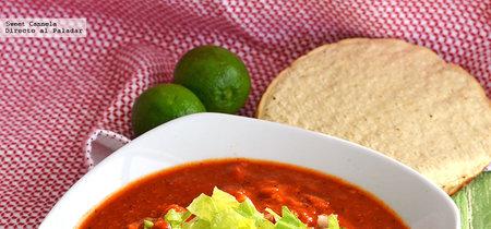 Pozole vegano de setas. Receta mexicana