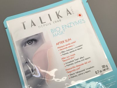 Y después de una jornada del sol, probamos la mascarilla Bio Enzymes de Talika